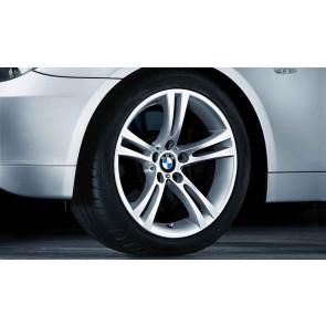 BMW Winterkompletträder M Doppelspeiche 184 silber 18 Zoll 5er E60 E61