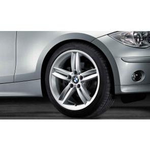 BMW Alufelge M Doppelspeiche 208 silber 7,5J x 18 ET 49 Vorderachse 1er E81 E82 E87 E88