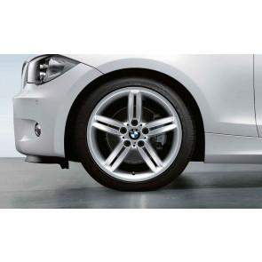 BMW Alufelge M Doppelspeiche 208 silber 8J x 18 ET 49 Hinterachse 1er E81 E87