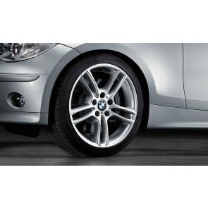 BMW Alufelge M Doppelspeiche 261 silber 8,5J x 18 ET 52 Hinterachse 1er E81 E82 E87 E88