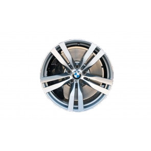 BMW Alufelge M Doppelspeiche 300 bicolor (schiefergrau / glanzgedreht) 11J x 20 ET 35 Hinterachse X5 E70 X6 E71