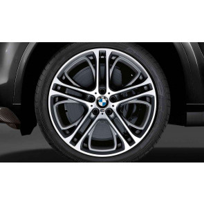 BMW Alufelge M Doppelspeiche 310 bicolor (ferricgrey / glanzgedreht) 11,5J x 21 ET 38 Hinterachse BMW X5 E70 X6 E71 E72