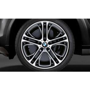 BMW Kompletträder M Doppelspeiche 310 bicolor (ferricgrey / glanzgedreht) 21 Zoll X5 F15 X6 F16 RDCi (Mischbereifung)
