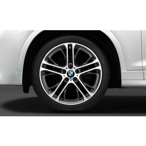 BMW Kompletträder M Doppelspeiche 310 bicolor (ferricgrey / glanzgedreht) 21 Zoll X5 F15 X6 F16