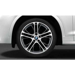 BMW Alufelge M Doppelspeiche 310 bicolor (ferricgrey / glanzgedreht) 10J x 21 ET 40 Vorderachse X5 E70 F15 X6 E71 E72 F16