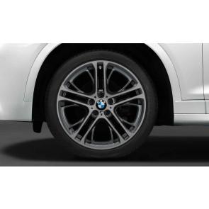 BMW Alufelge M Doppelspeiche 310 8,5J x 20 ET 38 bicolor (orbitgrey / glanzgedreht) Vorderachse X3 F25 X4 F26