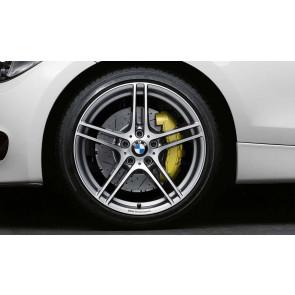 BMW Alufelge M Doppelspeiche 313 bicolor (ferricgrey / glanzgedreht) mit Performance-Schriftzug, ohne M-Logo 7,5J x 18 ET 49 Vorderachse 1er E81 E82 E87 E88