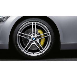 BMW Alufelge M Doppelspeiche 313 bicolor (ferricgrey / glanzgedreht) mit Performance-Schriftzug, ohne M-Logo 9J x 19 ET 39 Hinterachse 3er E90 E91 E92 E93