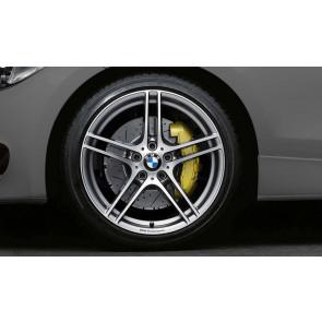 BMW Kompletträder M Doppelspeiche 313 bicolor (ferricgrey / glanzgedreht) mit Performance-Schriftzug, ohne M-Logo 19 Zoll 3er E90 E91 E92 E93 Z4 E89
