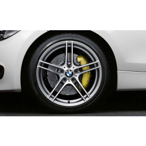 BMW Alufelge M Doppelspeiche 313 bicolor (ferricgrey / glanzgedreht) ohne Performance-Schriftzug, mit M-Logo 8,5J x 18 ET 52 Hinterachse 1er E81 E82 E87 E88
