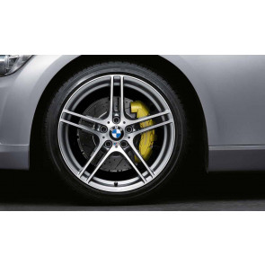 BMW Alufelge M Doppelspeiche 313 bicolor (ferricgrey / glanzgedreht) ohne Performance-Schriftzug, mit M-Logo 9J x 19 ET 39 Hinterachse 3er E90 E91 E92 E93