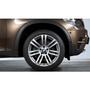 BMW Alufelge M Doppelspeiche 333 bicolor (orbitgrau / glanzgedreht) 11J x 20 ET 37 Hinterachse X6 E71