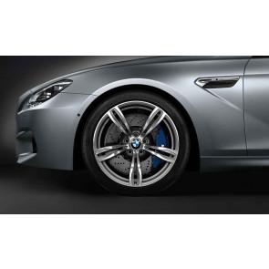 BMW Alufelge M Doppelspeiche 343 geschmiedet 9J x 20 ET 32 Silber Vorderachse BMW 5er F10