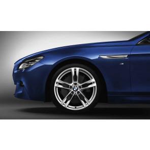 BMW Alufelge M Doppelspeiche 373 silber 9J x 20 ET 44 Hinterachse BMW 6er F06 F12 F13