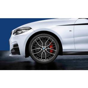 BMW Kompletträder M Doppelspeiche 405 bicolor (orbitgrey / glanzgedreht) 19 Zoll 1er F20 F21 2er F22 F23 RDCi