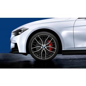 BMW Kompletträder M Doppelspeiche 405 bicolor (orbitgrey / glanzgedreht) 20 Zoll 3er F30 F31 4er F32 F33 F36 RDCi