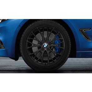BMW Alufelge M Doppelspeiche 405 schwarz matt 8J x 18 ET 34 Vorderachse / Hinterachse 3er F30 F31 F34 4er F32 F33 F36