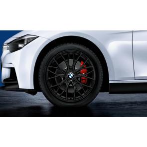 BMW Winterkompletträder M Doppelspeiche 405 schwarz matt 18 Zoll 3er F34 RDCi