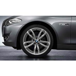 BMW Alufelge M Doppelspeiche 434 ferricgrey 9J x 20 ET 44 Hinterachse 5er F10 F11 6er F06 F12 F13