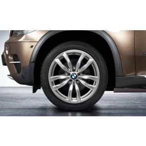 BMW Winterkompletträder M Doppelspeiche 435 silber 20 Zoll X6 E71