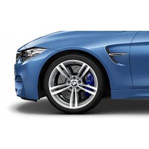 BMW Alufelge M Doppelspeiche 437 bicolor (ferricgrey  / glanzgedreht) 10J x 19 ET 40 Hinterachse M2 F87 M3 F80 M4 F82 F83