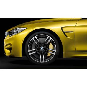 BMW Alufelge M Doppelspeiche 437 bicolor (schwarz / glanzgedreht) 10J x 19 ET 40 Hinterachse M3 F80 M4 F82 F83