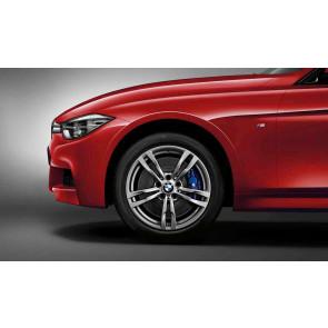 BMW Kompletträder M Doppelspeiche 441 ferricgrey 18 Zoll 3er F30 F31 4er F32 F33 F36