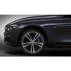 BMW Alufelge M Doppelspeiche 442 bicolor (ferricgrey / glanzgedreht) 8,5J x 19 ET 47 Hinterachse 3er F30 F31 4er F32 F33 F36