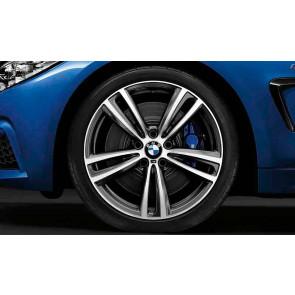BMW Alufelge M Doppelspeiche 442 orbitgrey 8,5J x 19 ET 47 Hinterachse 3er F30 F31 4er F32 F33 F36