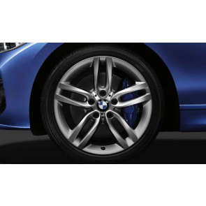 BMW Alufelge M Doppelspeiche 461 ferricgrey 8J x 18 ET 52 Hinterachse BMW 1er F20 F21 2er F22 F23