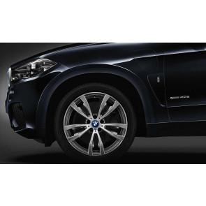 BMW Alufelge M Doppelspeiche 469 bicolor (ferricgrey / glanzgedreht) 10J x 20 ET 40 Vorderachse X5 F15 X6 F16