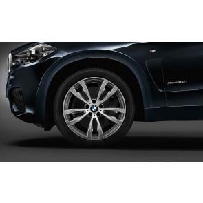 BMW Alufelge M Doppelspeiche 469 bicolor (ferricgrey / glanzgedreht) 11J x 20 ET 37 Hinterachse X5 F15 X6 F16