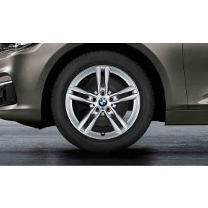 BMW Winterkompletträder M Doppelspeiche 483 silber 17 Zoll 2er F45 F46 RDCi