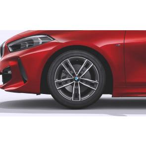 BMW Alufelge M Doppelspeiche 550 bicolor (ferricgrey / glanzgedreht) 7,5J x 17 ET 54 Vorderachse / Hinterachse 1er F40 2er F44