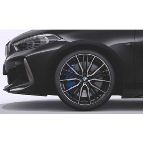 BMW Alufelge M Doppelspeiche 552 bicolor (schwarz / glanzgedreht) 8J x 19 ET 54 Vorderachse / Hinterachse 1er F40 2er F44
