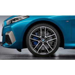 BMW Alufelge M Doppelspeiche 555 bicolor (jet black matt / glanzgedreht) 8J x 19 ET 54 1er F40 2er F44