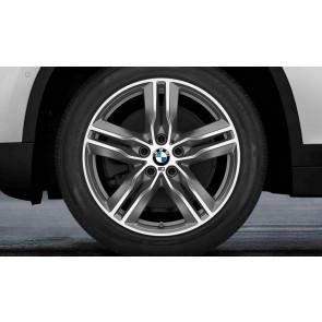 BMW Alufelge M Doppelspeiche 570 bicolor (ferricgrey / glanzgedreht) 7,5 J x 18 ET 51 Vorderachse / Hinterachse X1 F48 X2 F39
