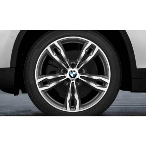 BMW Kompletträder M Doppelspeiche 572 bicolor (orbitgrey / glanzgedreht) 19 Zoll X1 F48 X2 F39 RDCi