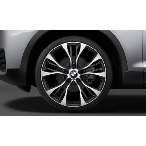BMW Alufelge M Doppelspeiche 599 bicolor (orbitgrey / glanzgedreht) 11,5 J x 21 ET 38 Hinterachse X5 F15 X6 F16