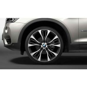 BMW Kompletträder M Doppelspeiche 599 bicolor (orbitgrey / glanzgedreht) 21 Zoll X5 F15 X6 F16