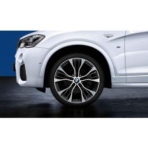 BMW Kompletträder M Doppelspeiche 599 bicolor (schwarz / glanzgedreht) 21 Zoll X3 F25 X4 F26 RDC LC