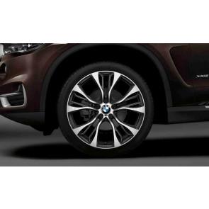 BMW Alufelge M Doppelspeiche 599 bicolor (schwarz / glanzgedreht) 10 J x 21 ET 51 Hinterachse X3 F25 X4 F26