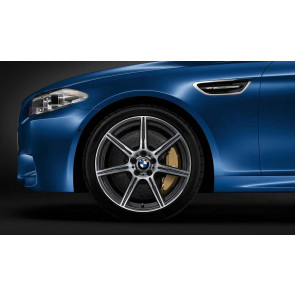 BMW Alufelge M Doppelspeiche 601 orbitgrey 9,5J x 20 ET 31 Vorderachse M6 F06 F12 F13