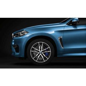 BMW Alufelge M Doppelspeiche 611 bicolor (orbitgrey / glanzgedreht) 10J x 20 ET 40 20 Zoll Vorderachse X5M F85 X6M F86