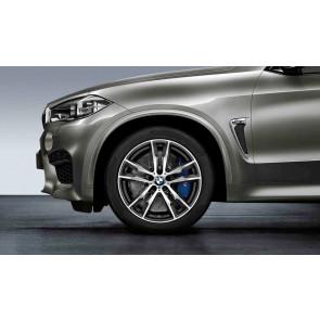 BMW Alufelge M Doppelspeiche 611 bicolor (orbitgrey / glanzgedreht) 11,5J x 20 ET 38 Hinterachse X5M F85 X6M F86