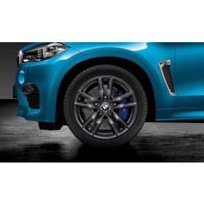 BMW Winterkompletträder M Doppelspeiche 611 orbitgrey 20 Zoll X5M F85 X6M F86 RDCi (Mischbereifung)