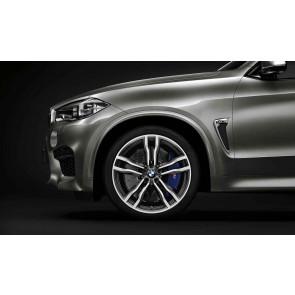 BMW Alufelge M Doppelspeiche 612 bicolor (orbitgrey / glanzgedreht) 11,5 J x 21 ET 38 21 Zoll Hinterachse X5M F85 X6M F86