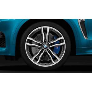 BMW Alufelge M Doppelspeiche 612 bicolor (orbitgrey / glanzgedreht) 11,5J x 21 ET 38 Hinterachse X5M F85 X6M F86