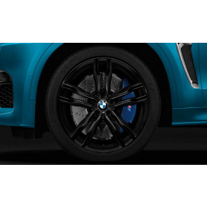 BMW Kompletträder M Doppelspeiche 612 bicolor (jet black uni / glanzgefräst) 21 Zoll X5M F85 X6M F86 RDCi (Mischbereifung)