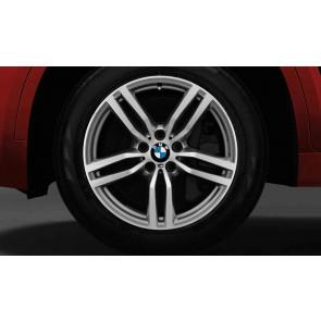 BMW Alufelge M Doppelspeiche 623 bicolor (ferricgrey / glanzgedreht) 9J x 19 ET 48 Vorderachse X6 F16